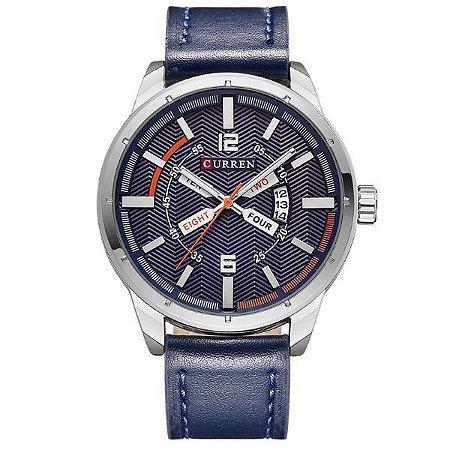 Relógio Masculino Curren Analógico 8211 Azul-