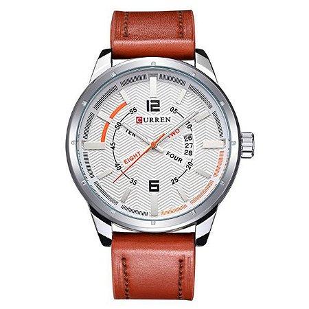 Relógio Masculino Curren Analógico 8211 Branco-