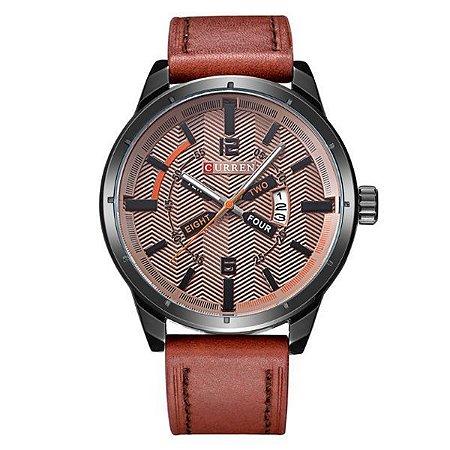 Relógio Masculino Curren Analógico 8211 Marrom-
