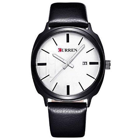 Relógio Masculino Curren Analógico 8212 Branco-