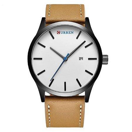 Relógio Masculino Curren Analógico 8214 Branco-