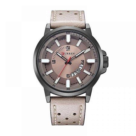 Relógio Masculino Curren Analógico 8228 - Cinza e Preto