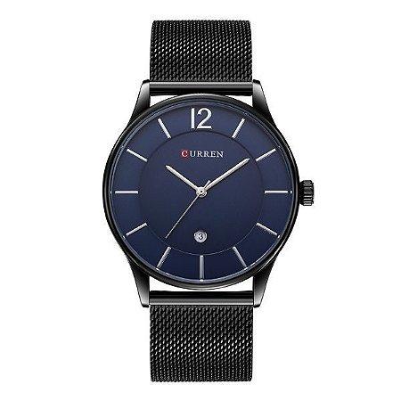 Relógio Masculino Curren Analógico 8231 Azul-
