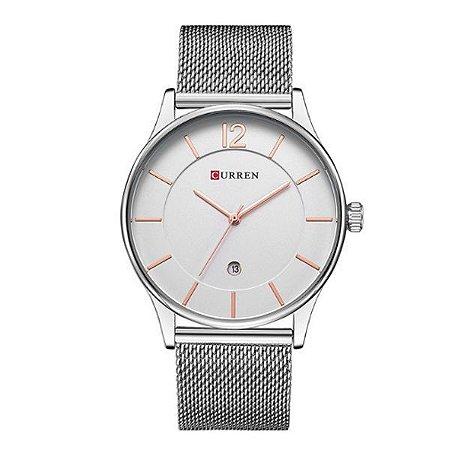 Relógio Masculino Curren Analógico 8231 Branco-