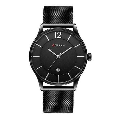 Relógio Masculino Curren Analógico 8231 Preto-
