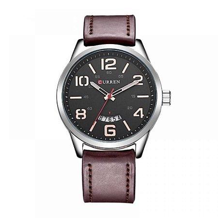 Relógio Masculino Curren Analógico 8236 - Marrom, Prata e Preto
