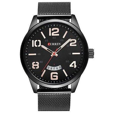 Relógio Masculino Curren Analógico 8236 - Preto e Branco