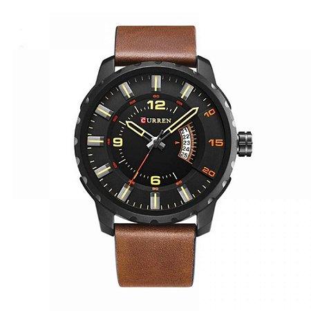 Relógio Masculino Curren Analógico 8245 - Marrom e Preto