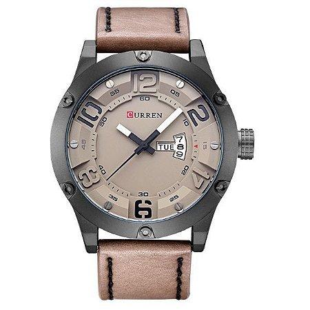 Relógio Masculino Curren Analógico 8251 Bege-