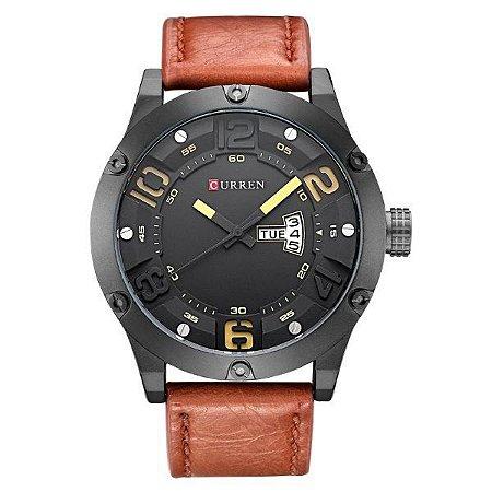 Relógio Masculino Curren Analógico 8251 Marrom-