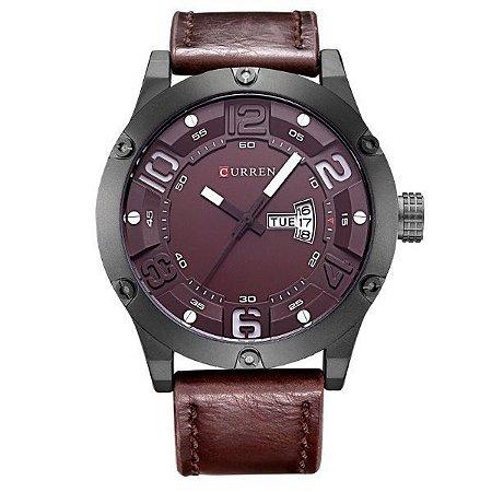 Relógio Masculino Curren Analógico 8251 Vinho-