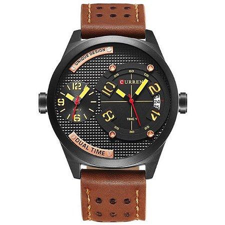 Relógio Masculino Curren Analógico 8252 Marrom-