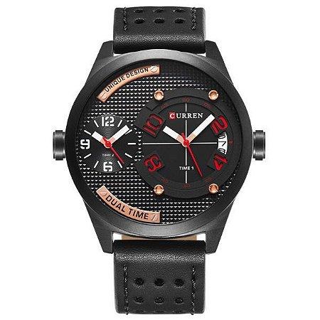 Relógio Masculino Curren Analógico 8252 Preto-