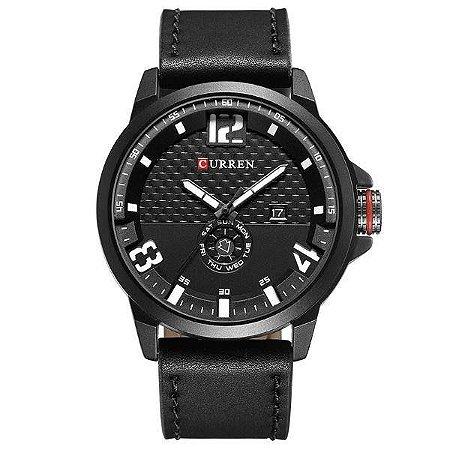 Relógio Masculino Curren Analógico 8253 - Preto e Branco