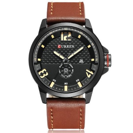 Relógio Masculino Curren Analógico 8253 Marrom-