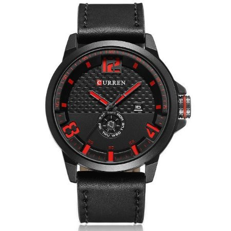 Relógio Masculino Curren Analógico 8253 Vermelho-
