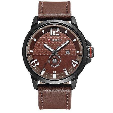 Relógio Masculino Curren Analógico 8253 Vinho-