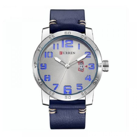 Relógio Masculino Curren Analógico 8254 - Azul e Prata