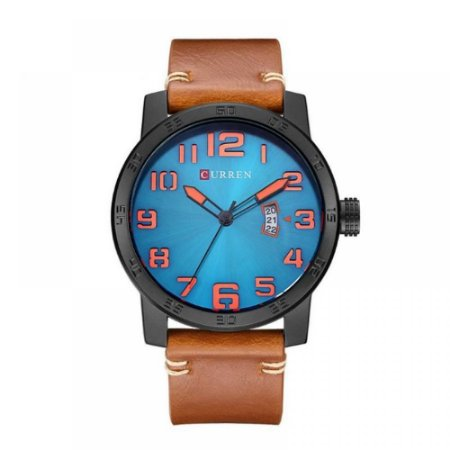 Relógio Masculino Curren Analógico 8254 - Marrom, Preto, Azul e Laranja