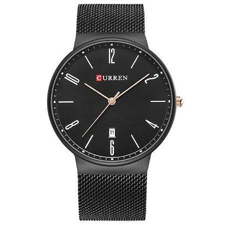 Relógio Masculino Curren Analógico 8257 Preto-