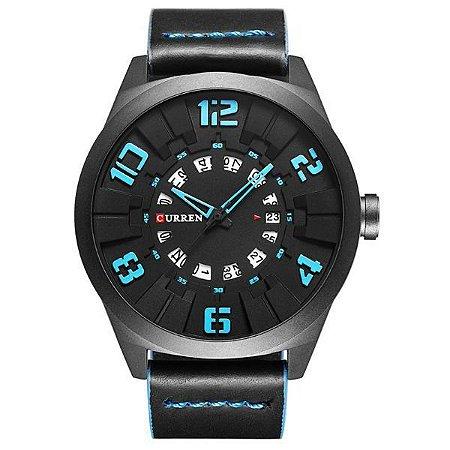 Relógio Masculino Curren Analógico 8258 Azul-