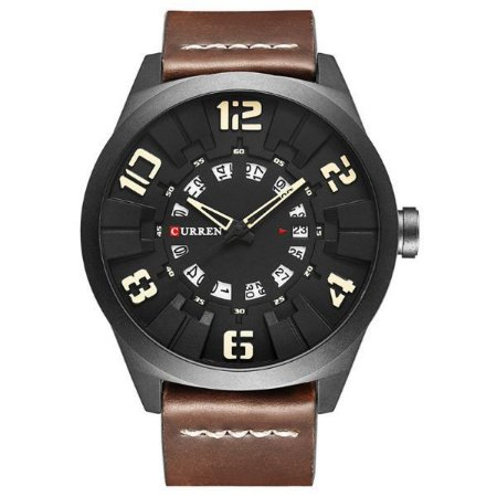 Relógio Masculino Curren Analógico 8258 Bege-