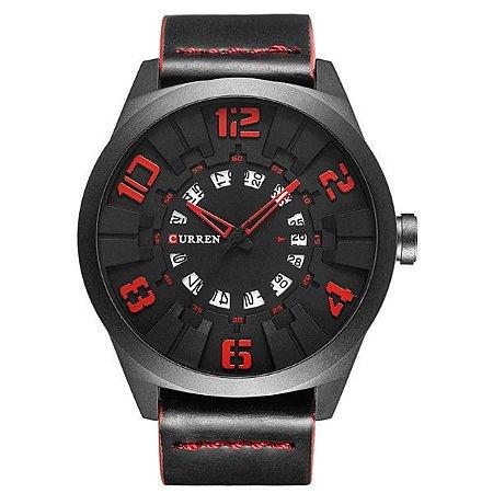 Relógio Masculino Curren Analógico 8258 Vermelho-