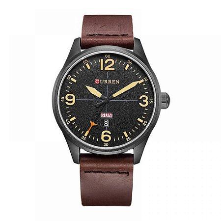 Relógio Masculino Curren Analógico 8265 - Marrom, Preto e Bege