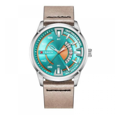 Relógio Masculino Curren Analógico 8298 - Prata e Bege