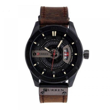 Relógio Masculino Curren Analógico 8301 - Marrom e Preto