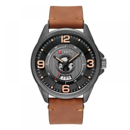 Relógio Masculino Curren Analógico 8305 - Marrom e Preto