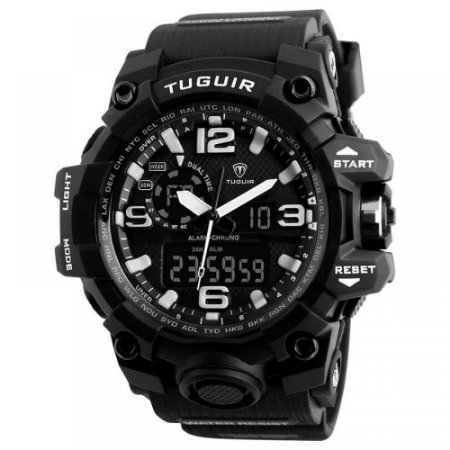 Relógio Masculino Tuguir AnaDigi TG1155 - Preto e Branco