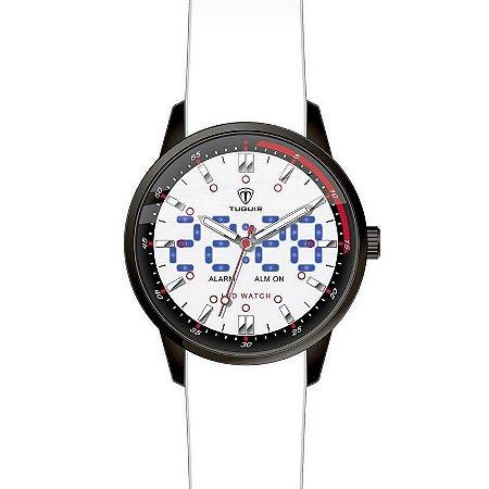 Relógio Masculino Tuguir Anadigi TG2118 Branco-