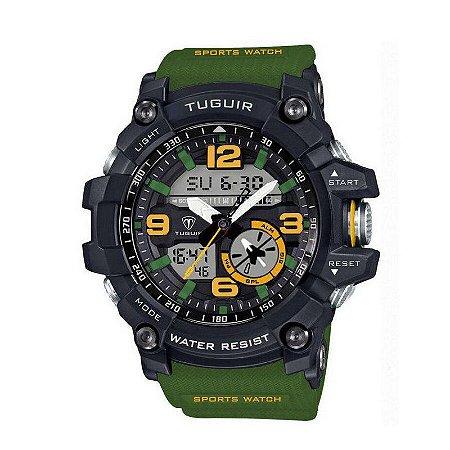 Relógio Masculino Tuguir Anadigi TG6009 Verde-
