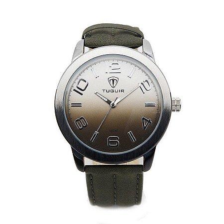 Relógio Masculino Tuguir Analógico 5001 - Preto e Prata-