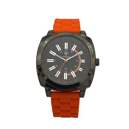 Relógio Masculino Tuguir Analógico 5014 - Laranja e Preto-