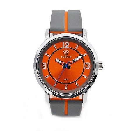 Relógio Masculino Tuguir Analógico 5016 - Cinza e Laranja-
