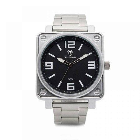 Relógio Masculino Tuguir Analógico 5019 - Prata e Preto