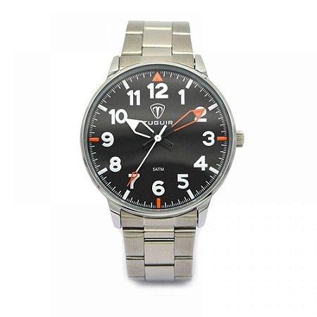 Relógio Masculino Tuguir Analógico 5022 - Prata e Preto