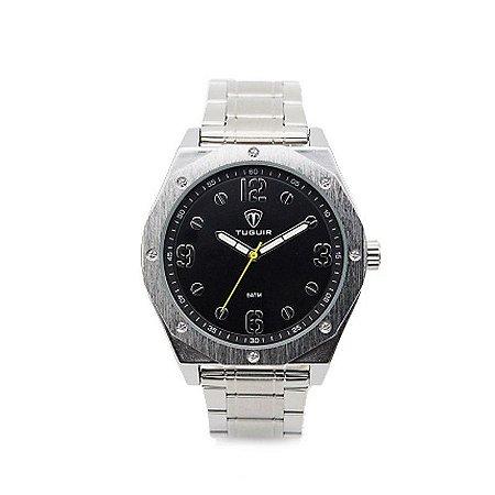 Relógio Masculino Tuguir Analógico 5034 - Prata e Preto-