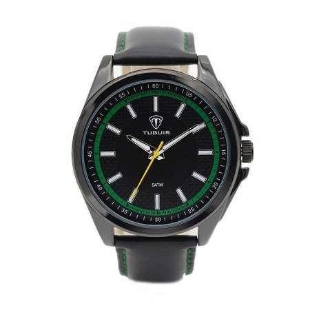 Relógio Masculino Tuguir Analógico 5044 - Preto e Verde-