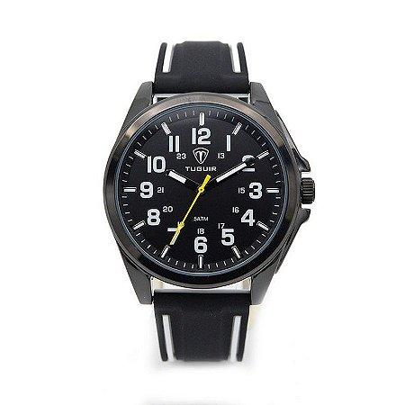 Relógio Masculino Tuguir Analógico 5045 - Preto e Branco-