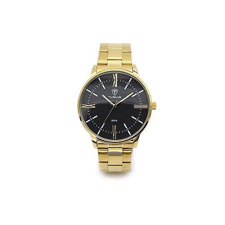 Relógio Masculino Tuguir Analógico 5049 Dourado e Preto-