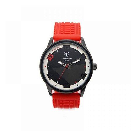 Relógio Masculino Tuguir Analógico 5050 - Vermelho e Preto
