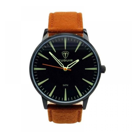 Relógio Masculino Tuguir Analógico 5273G - Marrom e Preto