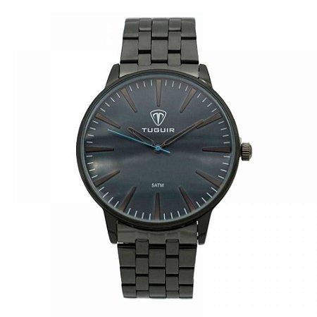 Relógio Masculino Tuguir Analógico 5273G - Preto e Azul