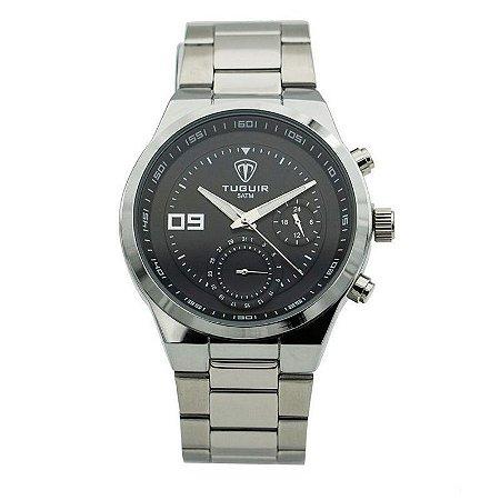 Relógio Masculino Tuguir Analógico 5440G - Prata e Preto-