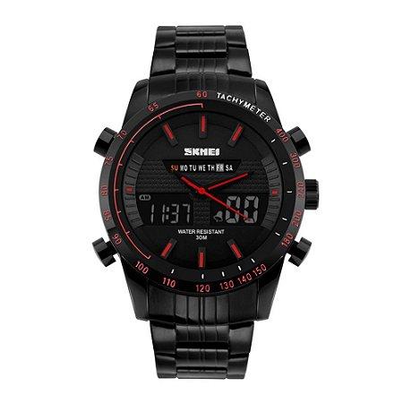 Relógio Masculino Skmei AnaDigi 1131 - Preto e Vermelho
