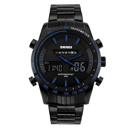 Relógio Masculino Skmei Anadigi 1131 Azul-