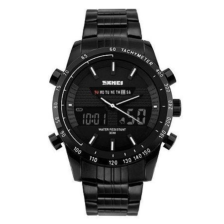 Relógio Masculino Skmei Anadigi 1131 Branco-